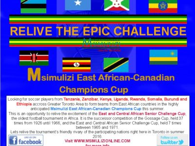 Relive the East African Challenge Cup in Toronto