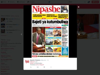 Tanzania: Are Tanzanians fed up living with FRAUD and CORRUPTION? – allAfrica.com