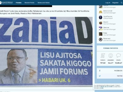 JamiiForums Co-Founder Charged with Cybercrime, denied bail (LATEST)