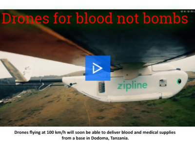 Drones to be used to save lives in rural Tanzania, not drop bombs