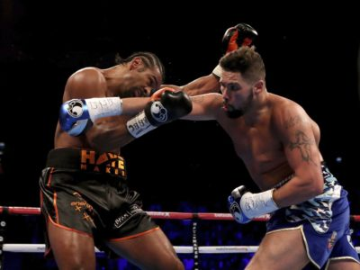 Haye's corner finally throws in the towel in the 11th round